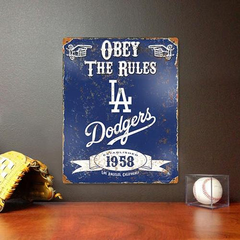 The Party Animal, Inc. VSLAD Los Angeles Dodgers Embossed Metal Sign - Peazz.com
