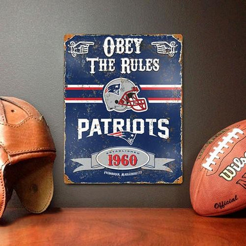 The Party Animal, Inc. VSNE New England Patriots Embossed Metal Sign - Peazz.com