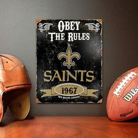 The Party Animal, Inc. VSNO New Orleans Saints Embossed Metal Sign - Peazz.com