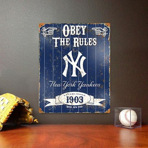 The Party Animal, Inc. VSNYY New York Yankees Embossed Metal Sign - Peazz.com