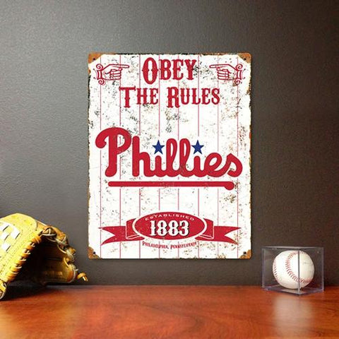 The Party Animal, Inc. VSPHI Philadelphia Phillies Embossed Metal Sign - Peazz.com