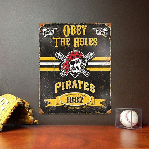The Party Animal, Inc. VSPIP Pittsburgh Pirates Embossed Metal Sign - Peazz.com