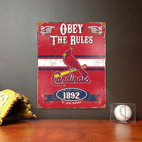 The Party Animal, Inc. VSSTL St. Louis Cardinals Embossed Metal Sign - Peazz.com