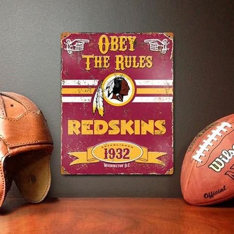 The Party Animal, Inc. VSWA Washington Redskins Embossed Metal Sign - Peazz.com