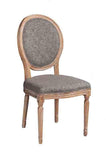 Linon W03480C Manchester Charcoal Oval Back Chair