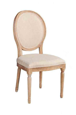 Linon W03480L Manchester Linen Oval Back Chair