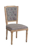 Linon W03482C Nottingham Charcoal Square Back Chair