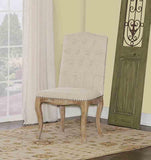Linon W03483L Portsmouth Linen Square Back Chair