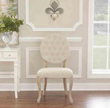 Linon W03484L Bradford Linen Oval Back Chair