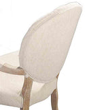 Linon W03485L Exeter Linen Arm Chair