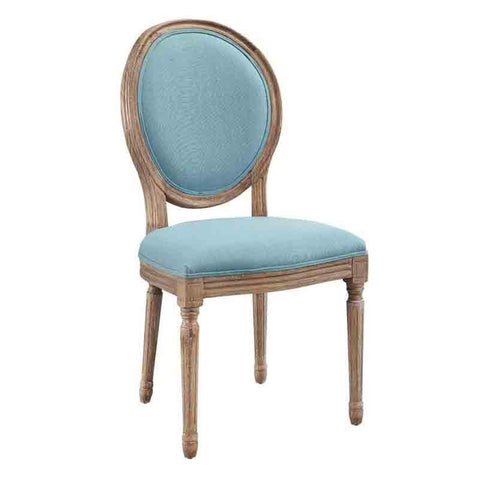 Linon W03491B Cannes Blue Round Back Dining Chair Set Of Two