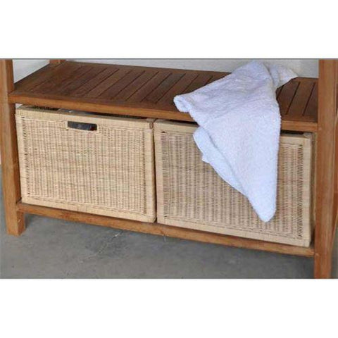 Anderson Teak WIC-4720 Wicker Basket for Towel Console TB-4720 (1 pair) - Peazz.com