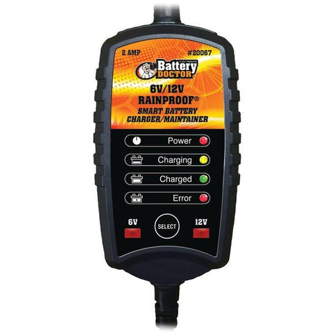 Battery Doctor 20067 Battery Doc 6-Volt/12-Volt 2-Amp Rainproof CEC Charger/Maintainer - Peazz.com