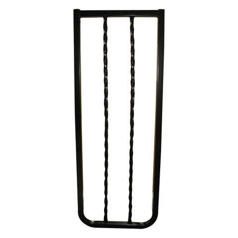 Cardinal Gates WIX-BK Wrought Iron Decor Hardware Mounted Pet Gate Extension
