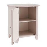 Linon WK122CRM01U Winter Cream Small Cabinet With Mirror Door