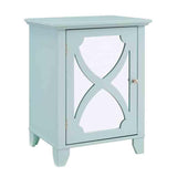Linon WK124SEA01U Winter Seafoam Small Cabinet With Mirror Door