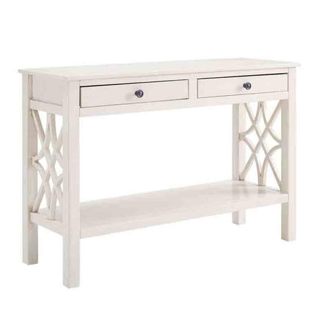 Linon WM128WHT01U Whitley Antique White Console Table