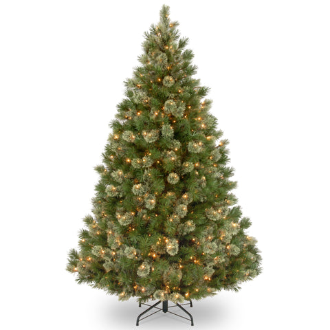 National Tree WOG1-308-75 7 1/2' Wispy Willow Grande Medium Hinged Tree with 750 Clear Lights