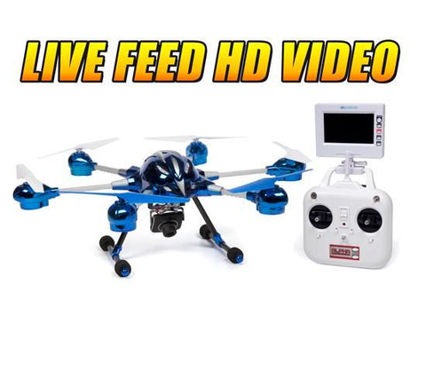World Tech Toys 2.4Ghz Alpha Spy Drone with Video Camera RC Hexacopter