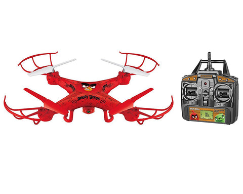 Angry Birds Licensed 4.5-Channel 2.4 GHz Remote Control Camera Drone Squak-Copter - Red