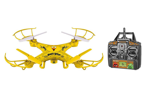Angry Birds Licensed 4.5-Channel 2.4 GHz Remote Control Camera Drone Squak-Copter - Chuck