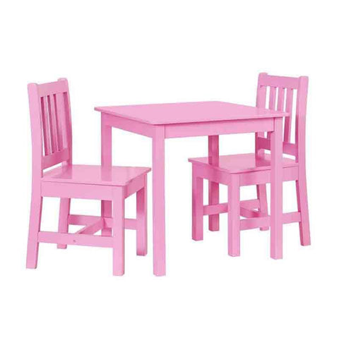 Linon YT106PINK01U Jaydn Pink Kid Table And Two Chairs