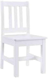 Linon YT108WHT01U Jaydn White Kid Table And Two Chairs