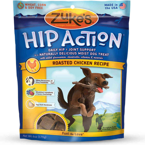 Zuke's Z-21110 Hip Action Treats with Glucosamine Roasted Chicken Recipe 6 oz.