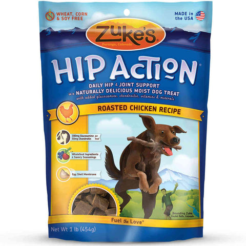 Zuke's Z-21120 Hip Action Treats with Glucosamine Roasted Chicken Recipe 1 lbs.