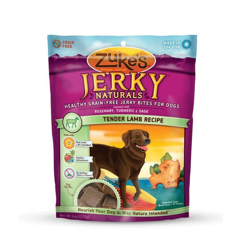Zuke's Z-22053 Jerky Naturals Healthy Grain Free Treats for Dogs Tender Lamb 6 oz.