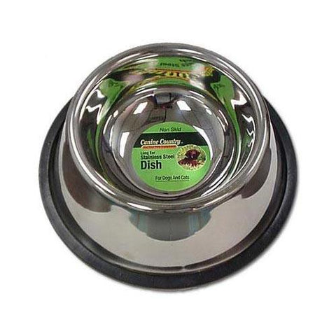 PetEdge ZW14224 No-Tip Non-Skid Stainless Steel Bowl 24oz.