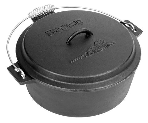 Bayou Classic 10-Qt. Cast IronChicken Fryer, Dutch Oven Lid 7410  Fryer