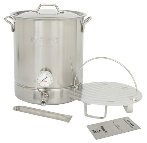 Bayou Classic 8-Gal. Brew Kettle Set, stainless, 32-Qt. 800-408  Kettle