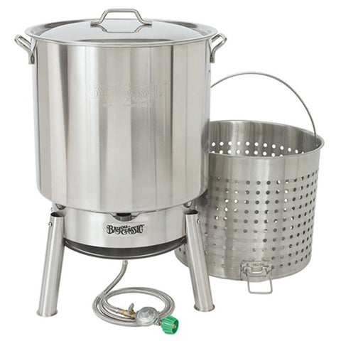 Bayou Classic Crawfish Cooker Kit (KDS1 Cooker & 82 Qt Stainless Pot) KDS-182  Cooker