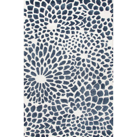 Jaipur Rugs RUG113638 Hand-Tufted Durable Wool/ Art Silk Ivory/Blue Area Rug ( 8x10 )
