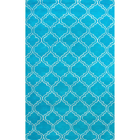 Jaipur Rugs RUG113649 Hand-Tufted Durable Wool/ Art Silk Blue/Ivory Area Rug ( 8X11 )