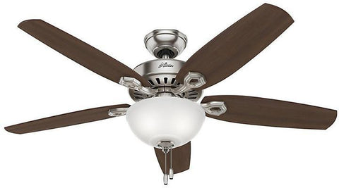 "Casablanca 53090 Builder Deluxe - 52"" Brushed Nickel Bowl Light Kit 53090 FAN"