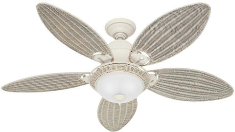 "Casablanca 54094 Caribbean Breeze™ - 54"" Textured White Bowl Light Kit 54094 FAN"