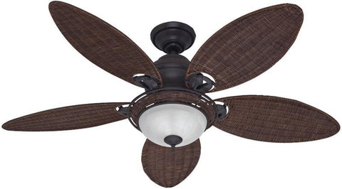 "Casablanca 54095 Caribbean Breeze™ - 54"" Weathered Bronze Bowl Light Kit 54095 FAN"