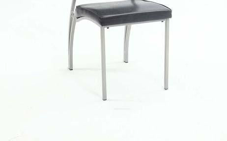 Chintaly GEORGIA-SC-BLK Chair w/ curved metal legs ( Set of 2 )