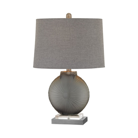 Lamp Works LAM-D2909 Simone Collection Grey,Pewter Finish Table Lamp