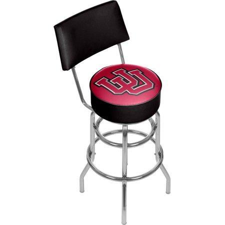 University Of Utah Clc1100-Utah University Of Utah Padded Swivel Bar Stool With Back