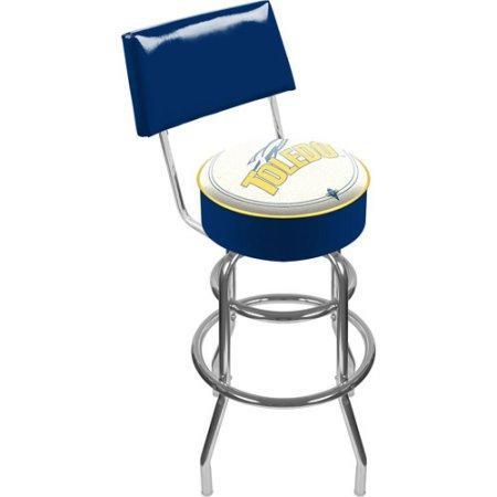 University Of Toledo Clc1100-Utdo University Of Toledo Padded Swivel Bar Stool With Back
