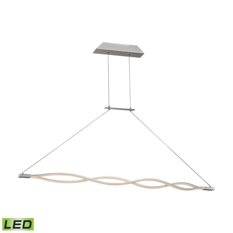 Alico LC1350-10-98 Twist Collection Aluminum Finish Pendant
