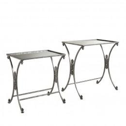 Bayden Hill AHW811AS1 Silver Metal and Mirror Bar Cart - Peazz Furniture