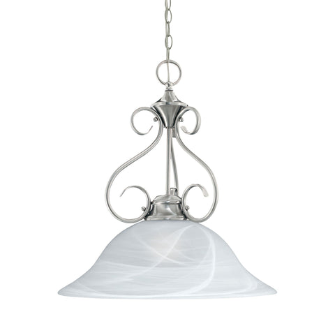 Thomas Lighting M255078 Essentials Collection Brushed Nickel Finish Transitional Pendant