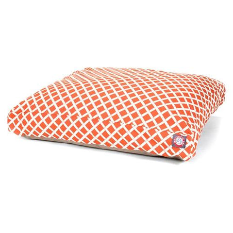 Majestic Pet Products Burnt Orange Bamboo Medium Rectangle Pet Bed - Peazz.com