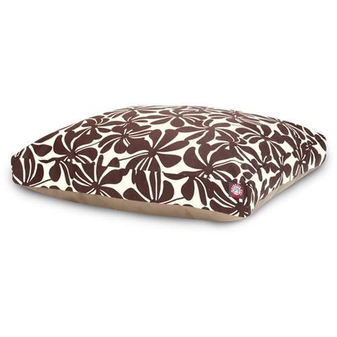 Majestic Pet Products Chocolate Plantation Medium Rectangle Pet Bed - Peazz.com