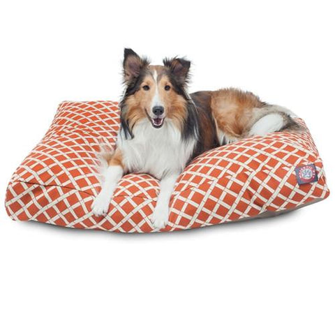 Majestic Pet Products Burnt Orange Bamboo Large Rectangle Pet Bed - Peazz.com