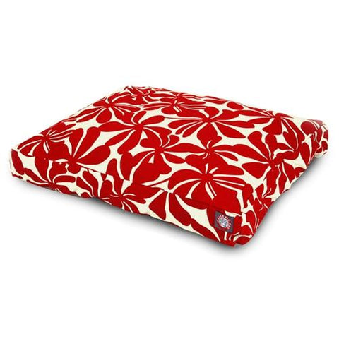 Majestic Pet Products Red Plantation Extra Large Rectangle Pet Bed - Peazz.com